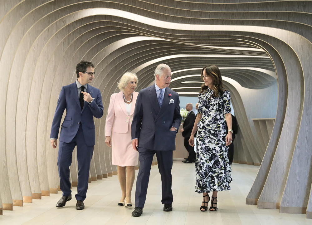 97a0fd593985 A glimpse into the future of luxury fashion online as TRH The Prince Of  Wales and The Duchess Of Cornwall visit YNAP s Tech Hub