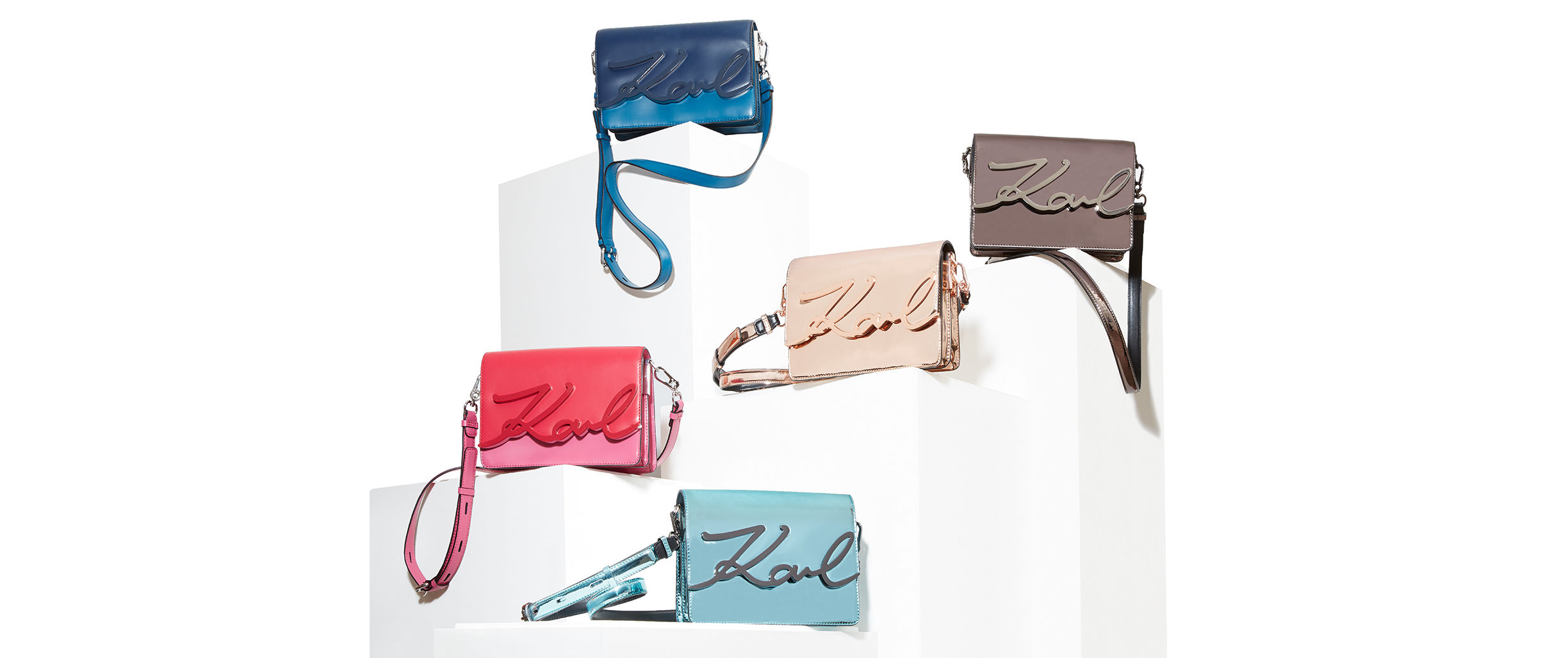 K/SIGNATURE GLOSS THE ICONIC HANDBAG WITH A HIGH-GLOSS FINISH SHOP NOW
