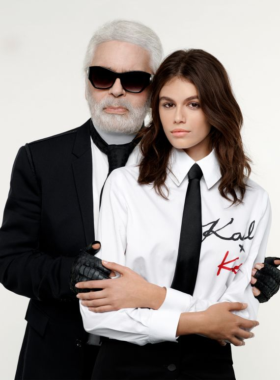 d98f8a155 IT'S HERE: KARL LAGERFELD X KAIA • World of Karl