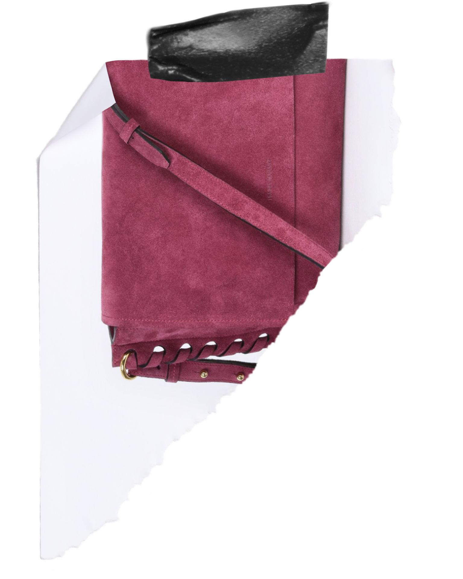 Asli Suede calfskin shoulder bag