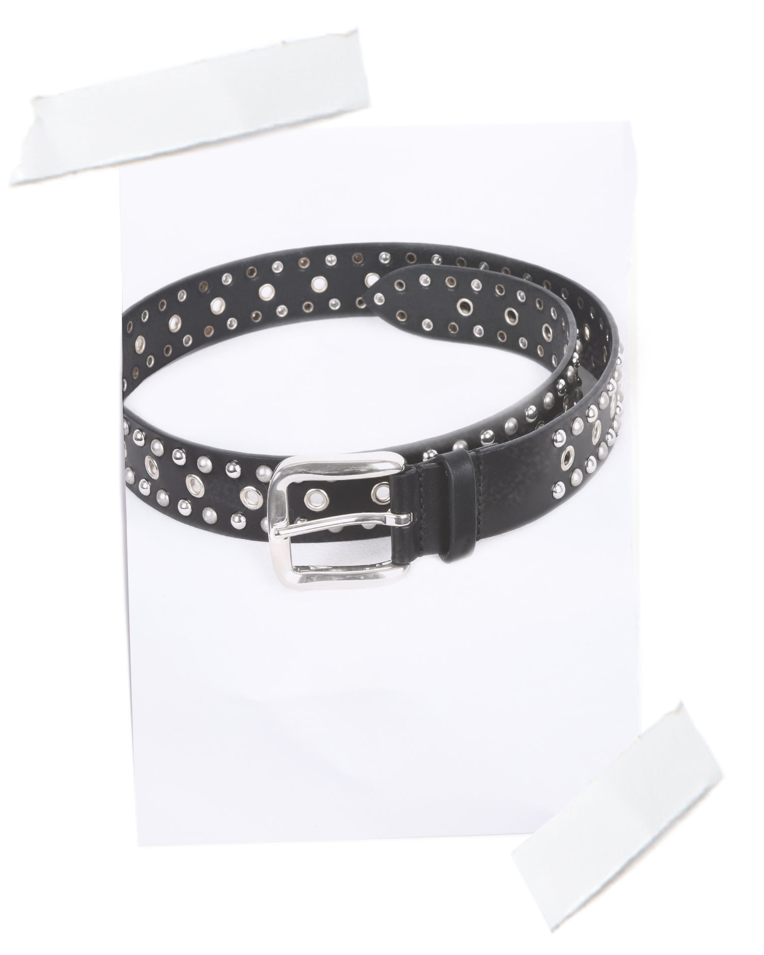 Rica Smooth leather belt with stud and eyelet detailing