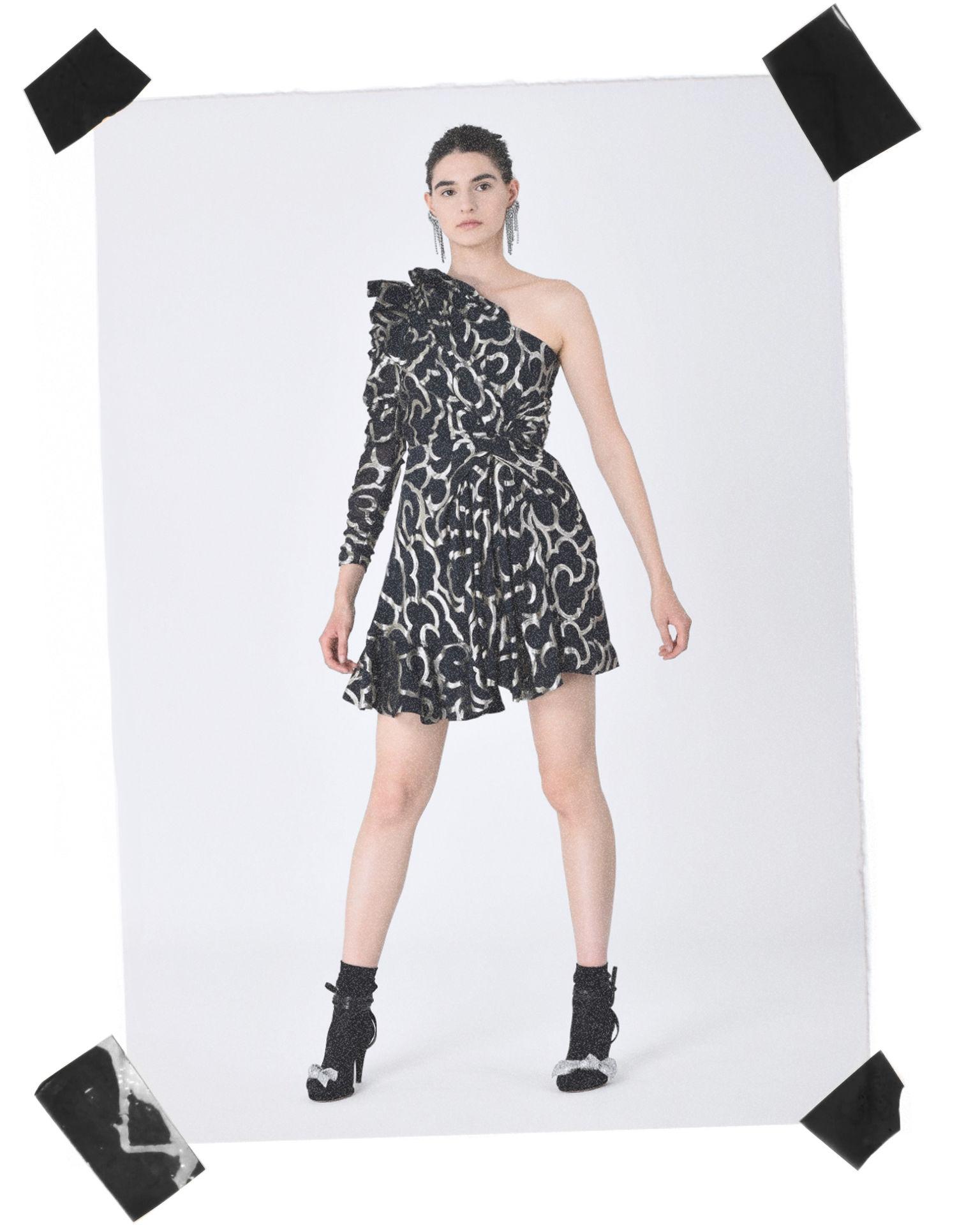 CLARY mini dress in lurex jacquard
