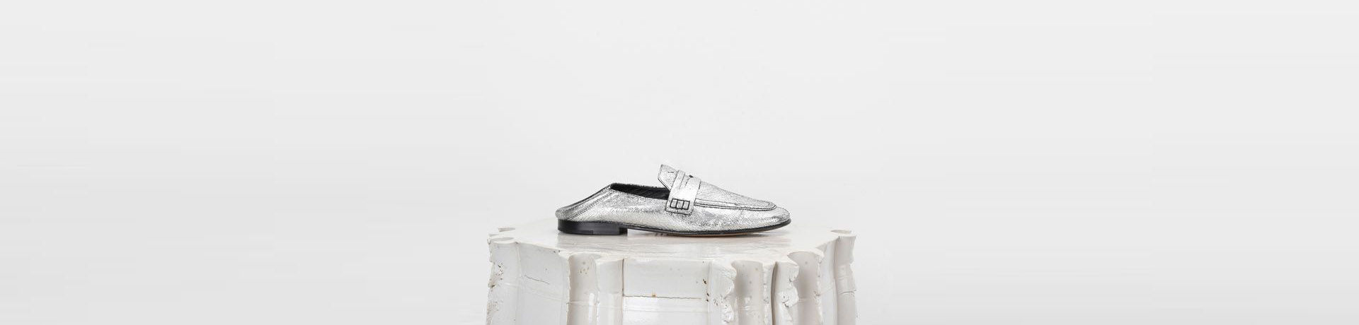 FEZZY silver loafers