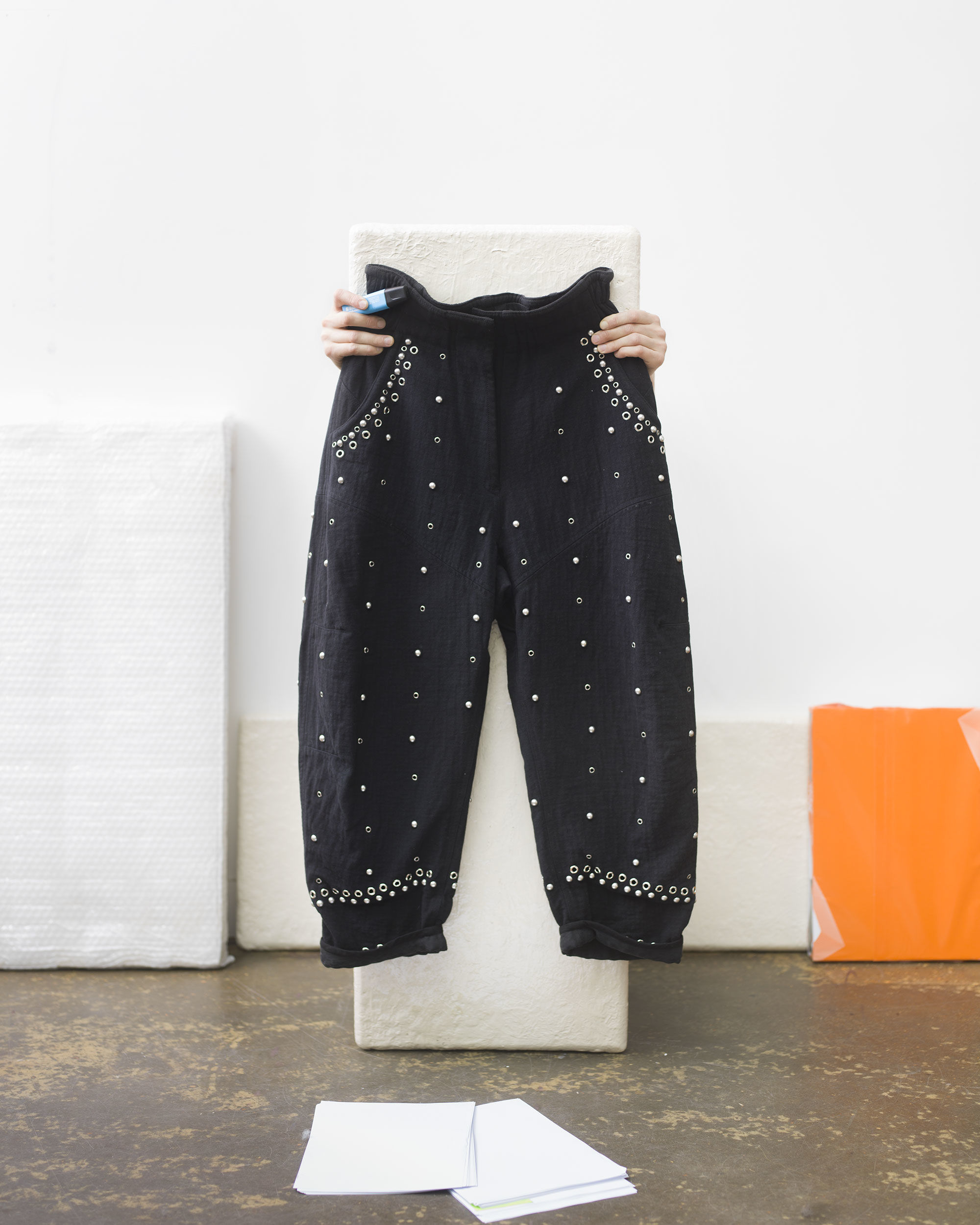 ELOMA studded trousers