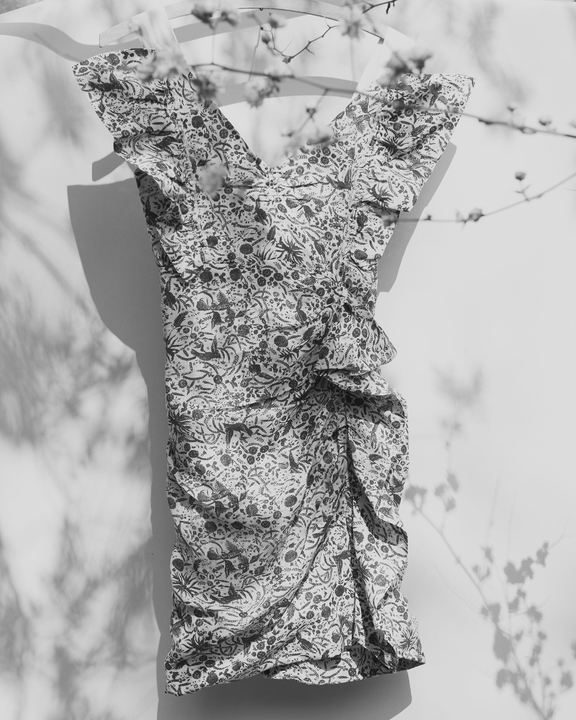 TOPAZ printed linen dress