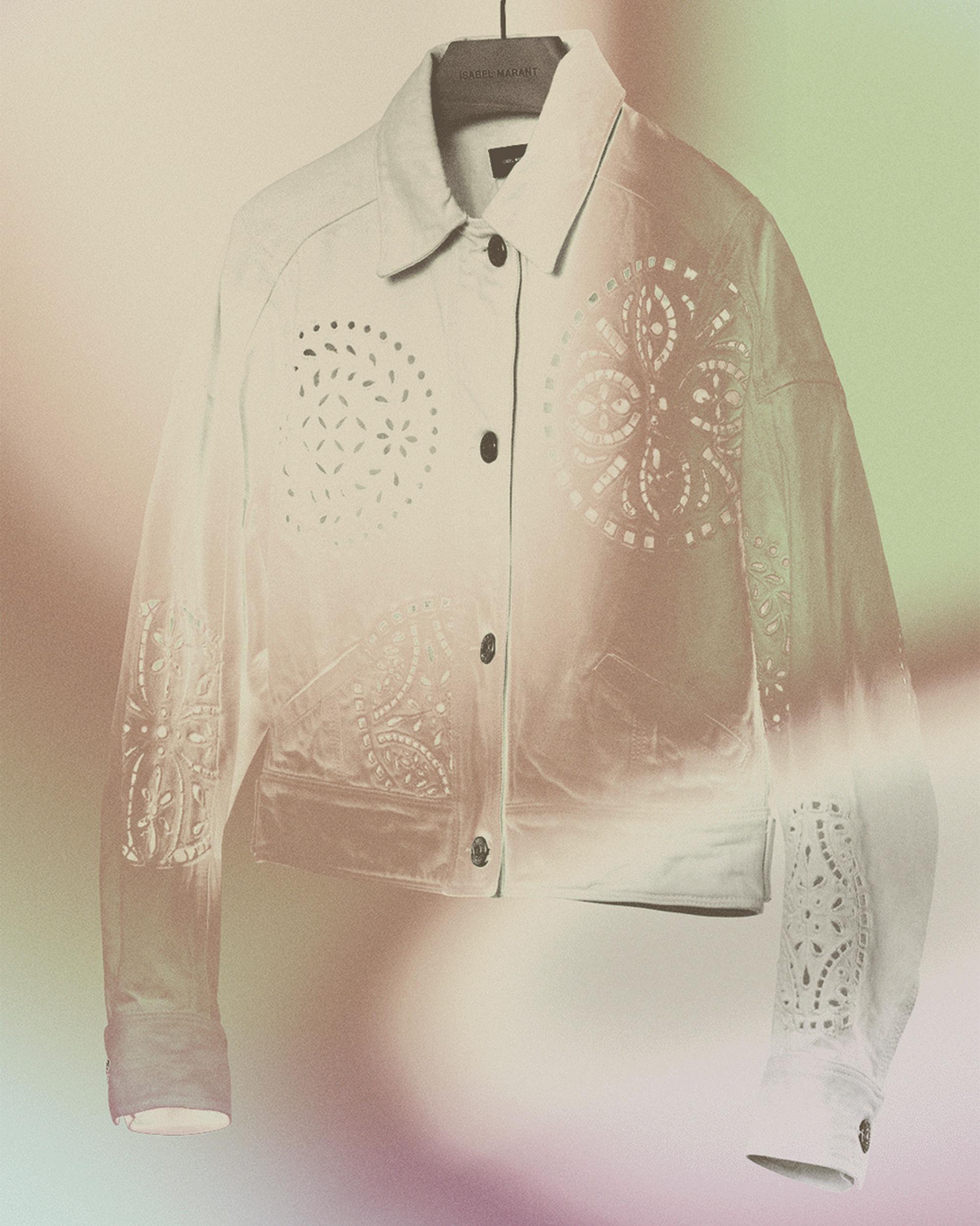 RENA embroidered denim jacket