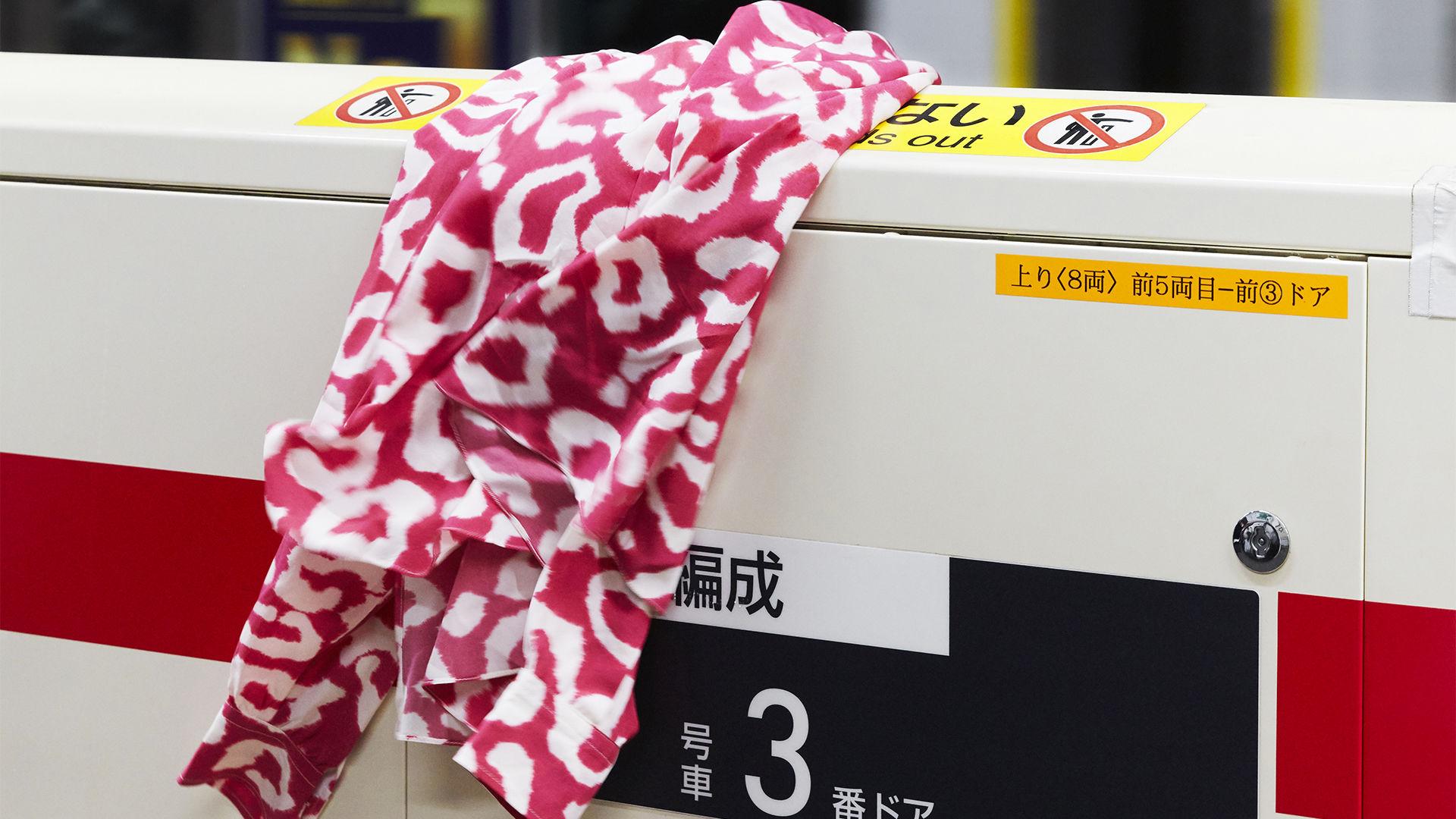 CREM printed silk top