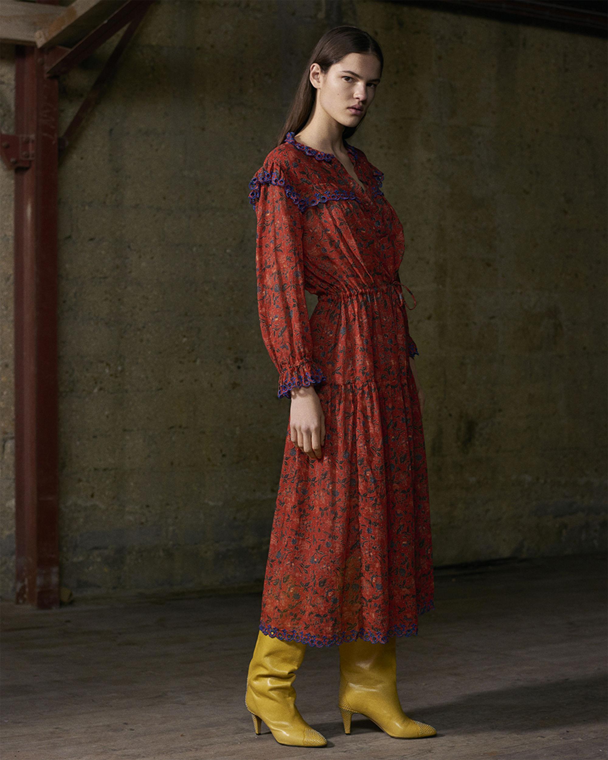 EINA printed cotton voile dress