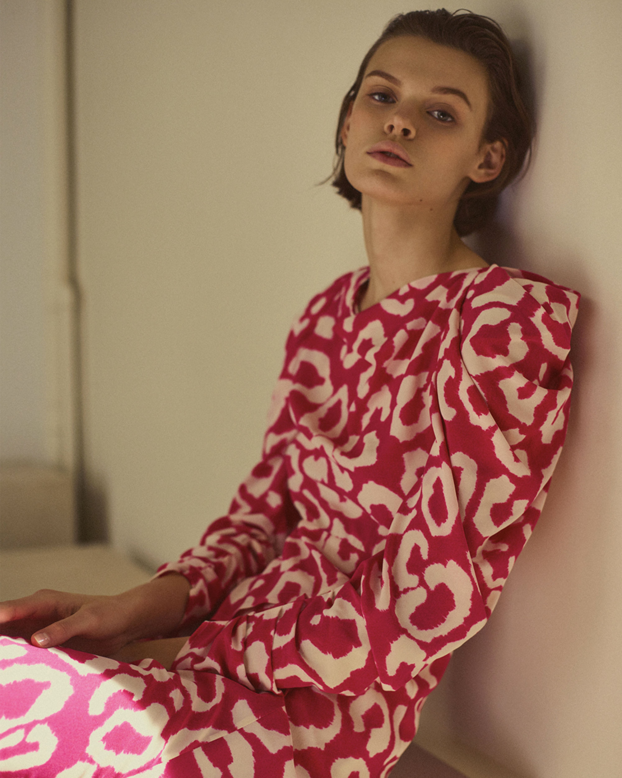 CARLEY printed silk dress