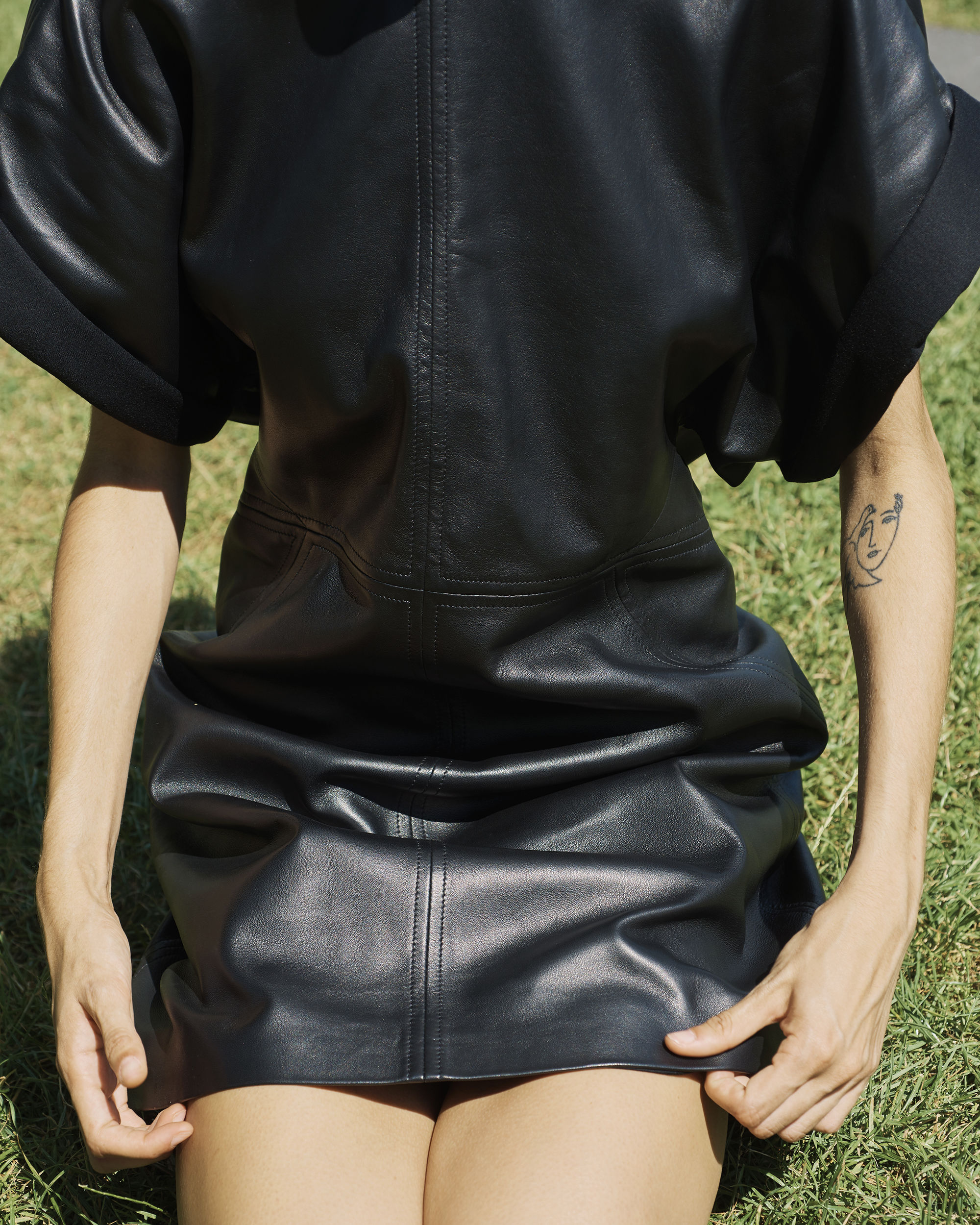 COSTA leather dress