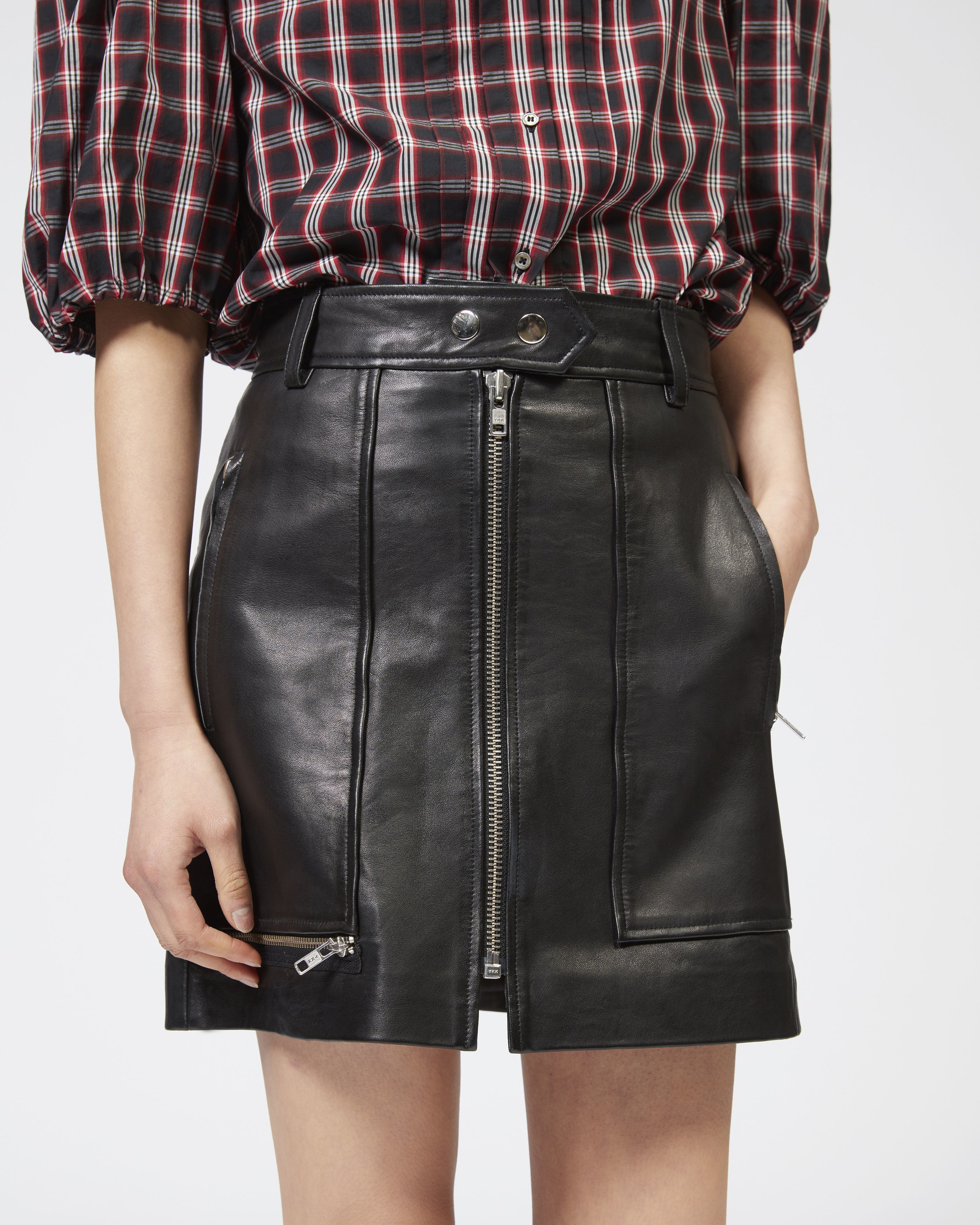 ALYNNA leather skirt
