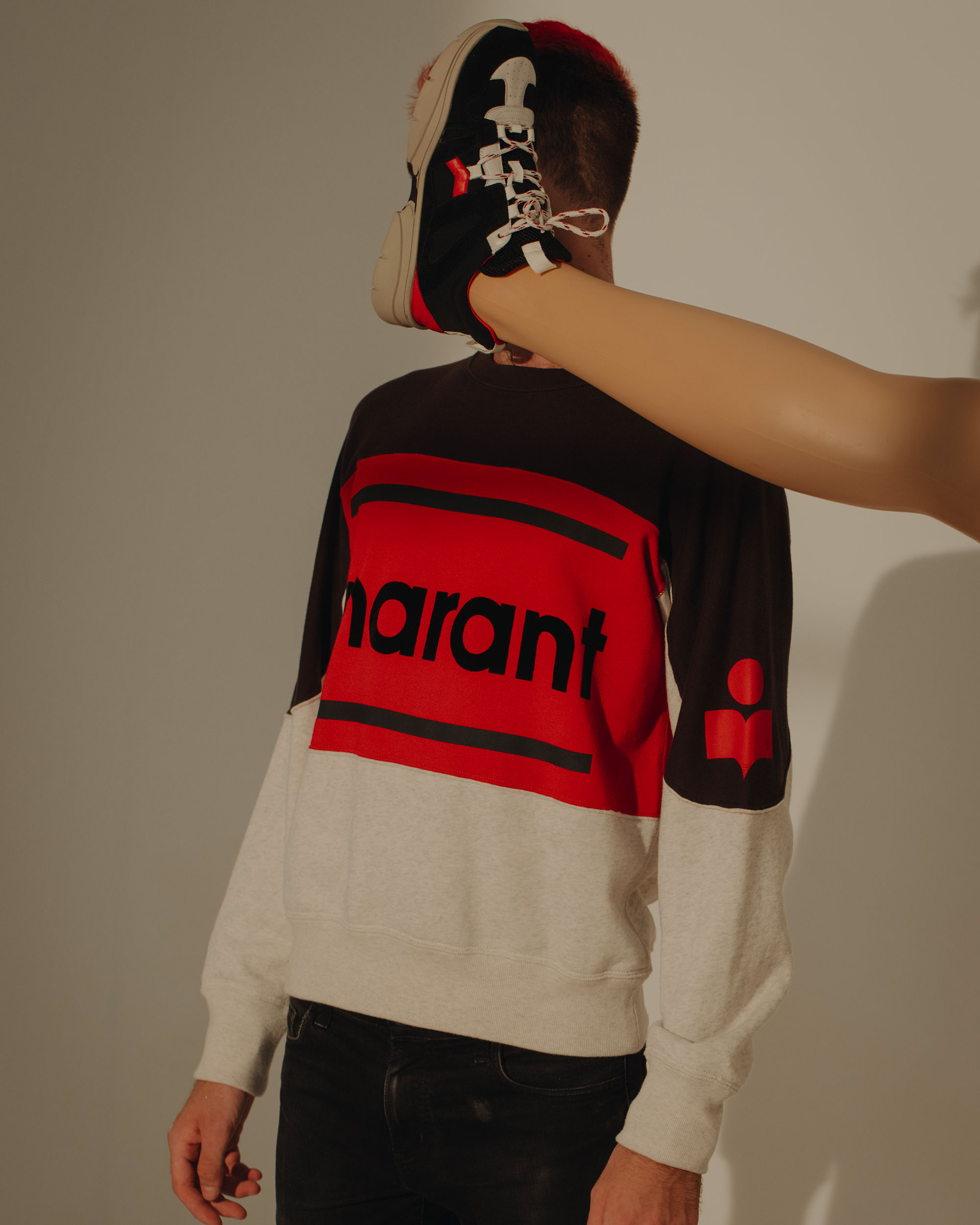 GALLIANH three colour sweatshirt
