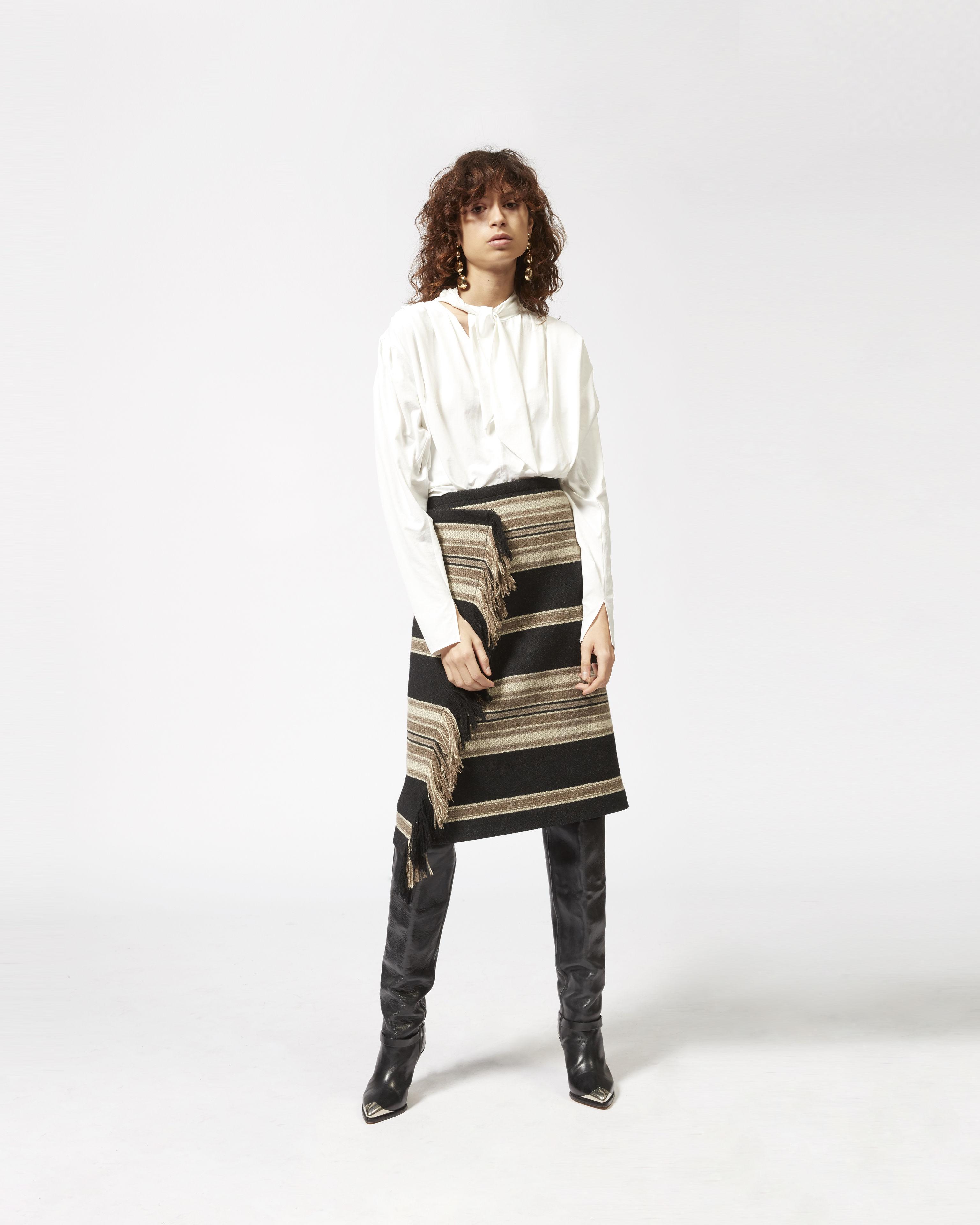 HARDEN striped skirt