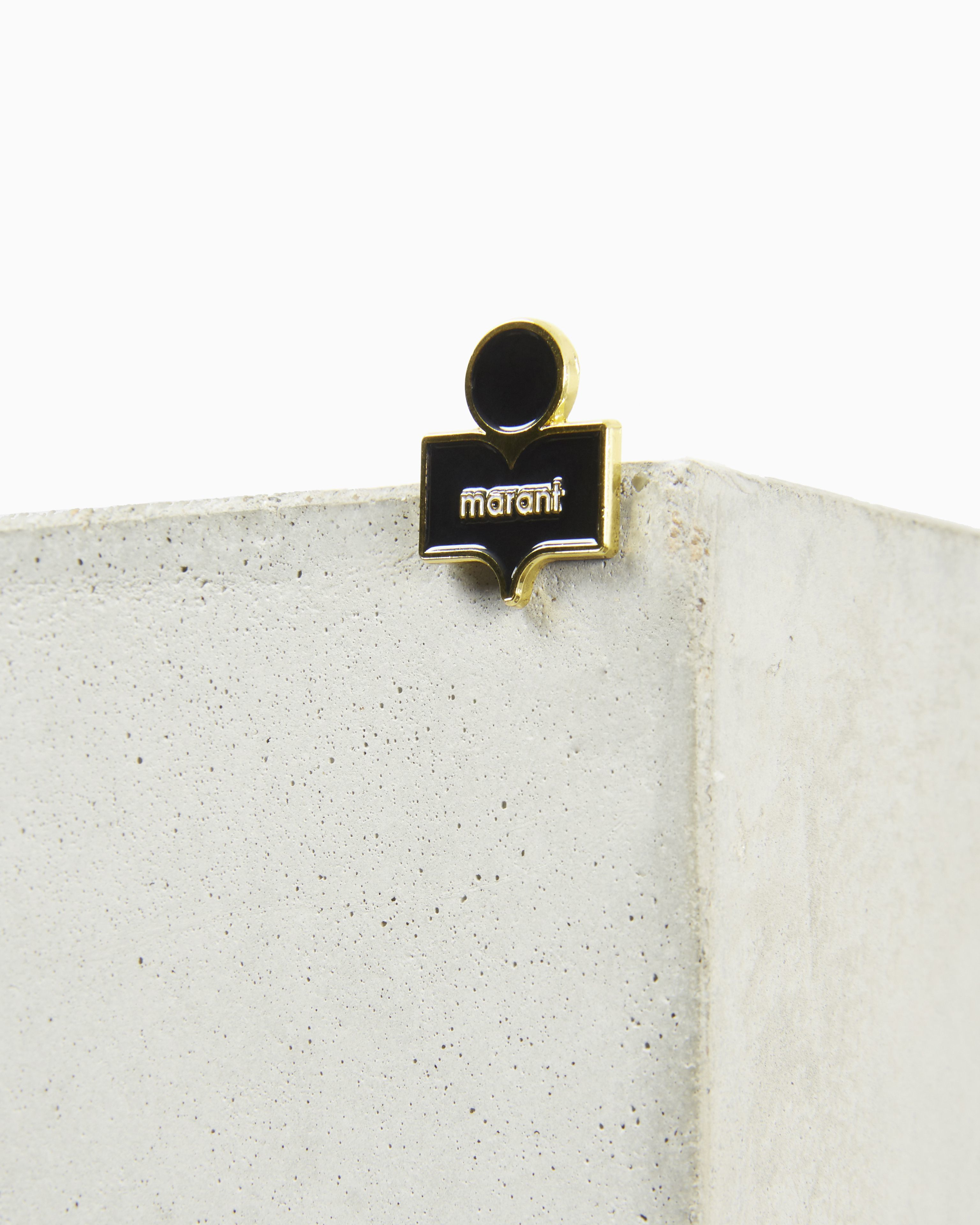 CRAZY LOGO pin brooch
