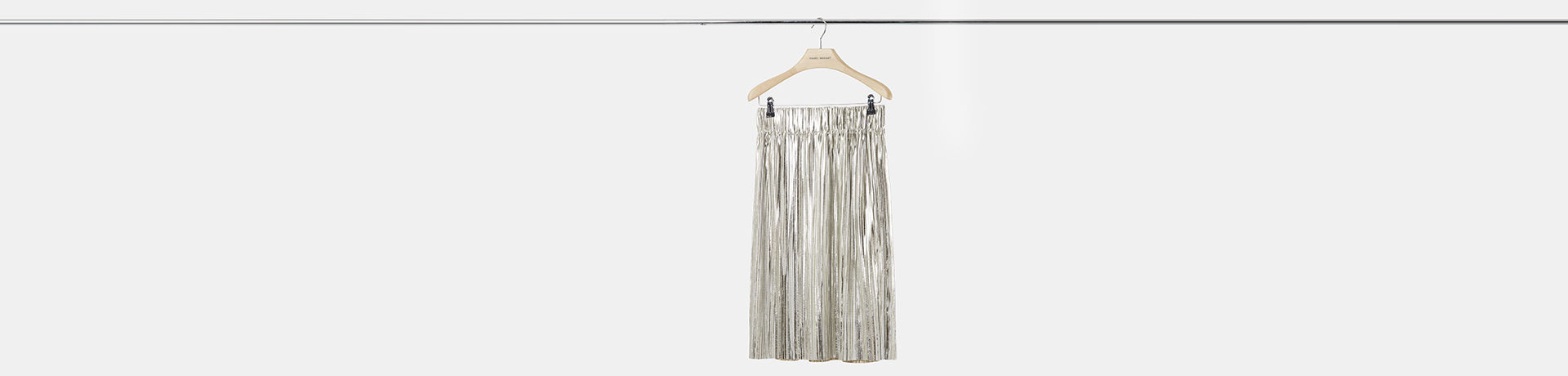 DELPHINA metallic skirt