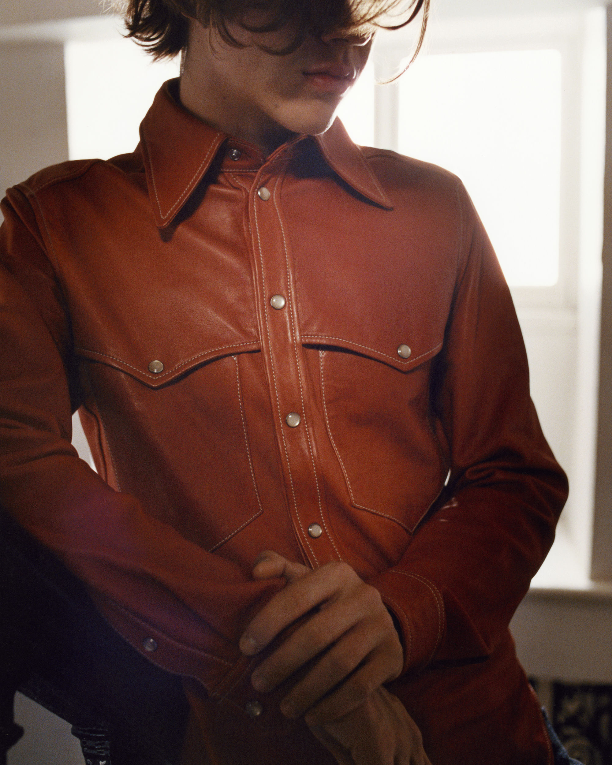 NEO leather shirt