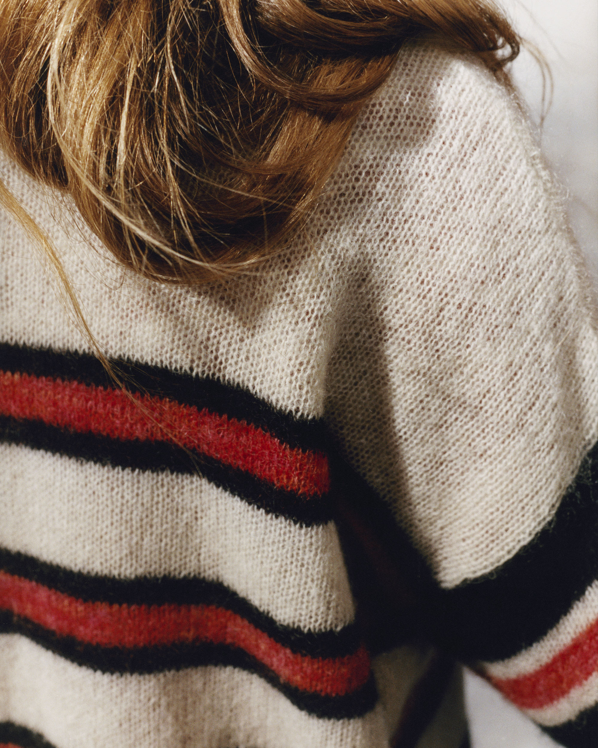 RUSSELL striped mohair jumper