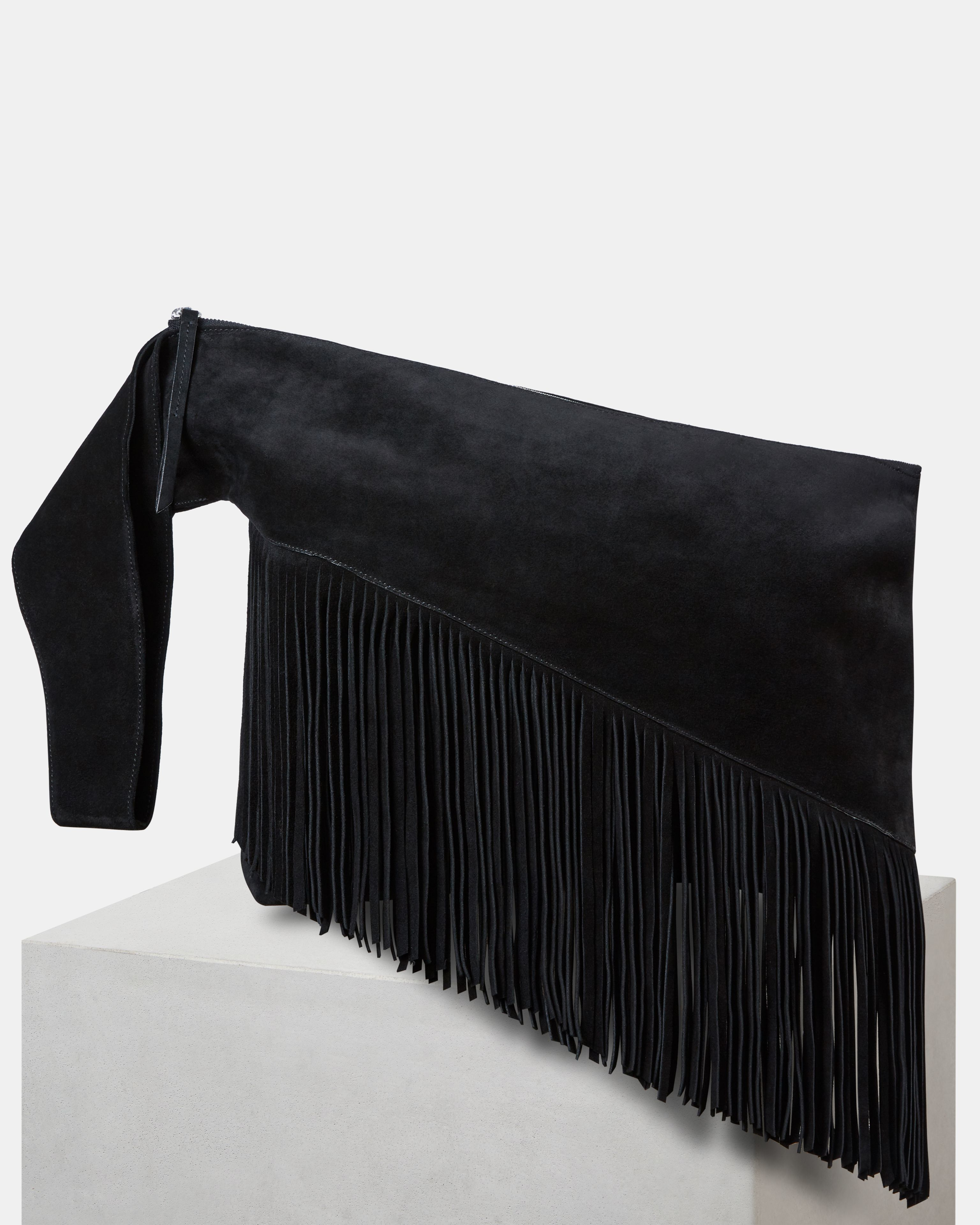 FARWO fringed clutch bag
