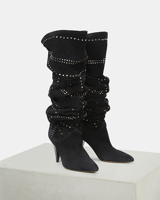 LADRA thigh high boots