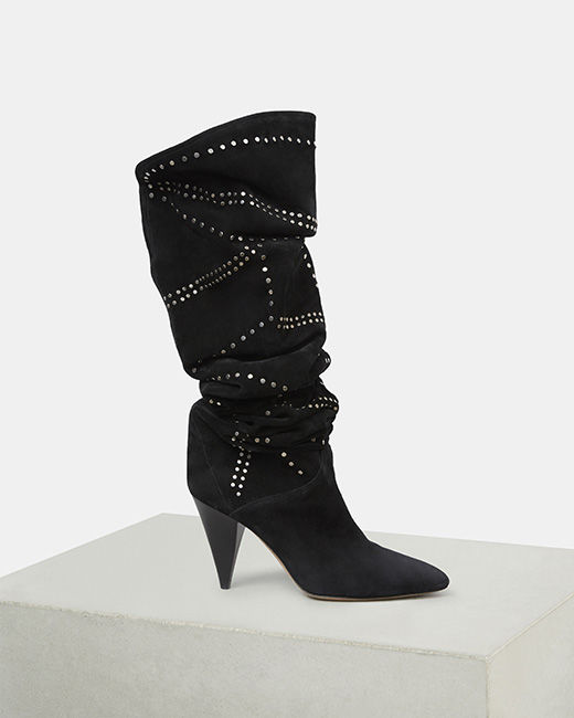 LADRA thigh high boots