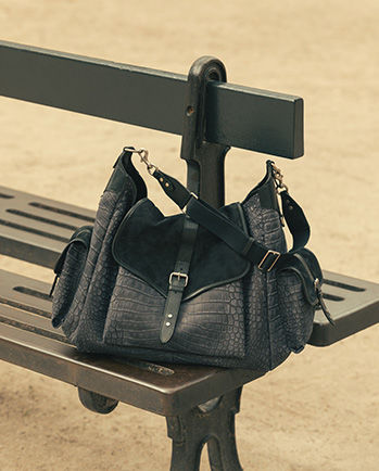 Mawee bag laid on a bench