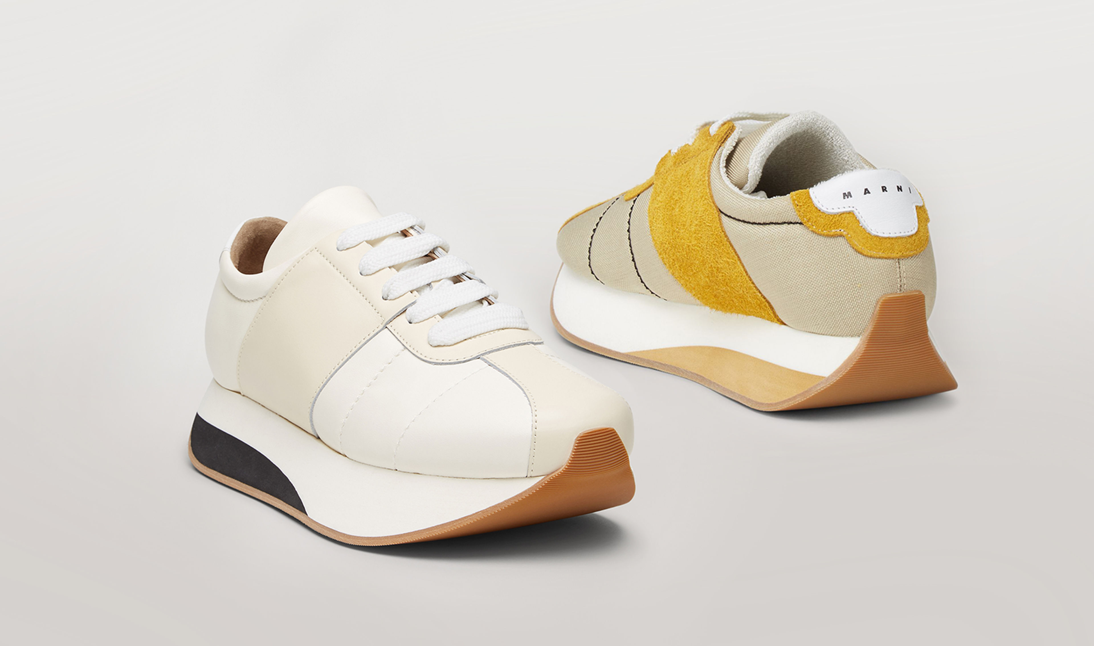 Yellow Big Foot Sneakers with maxi rubber soles