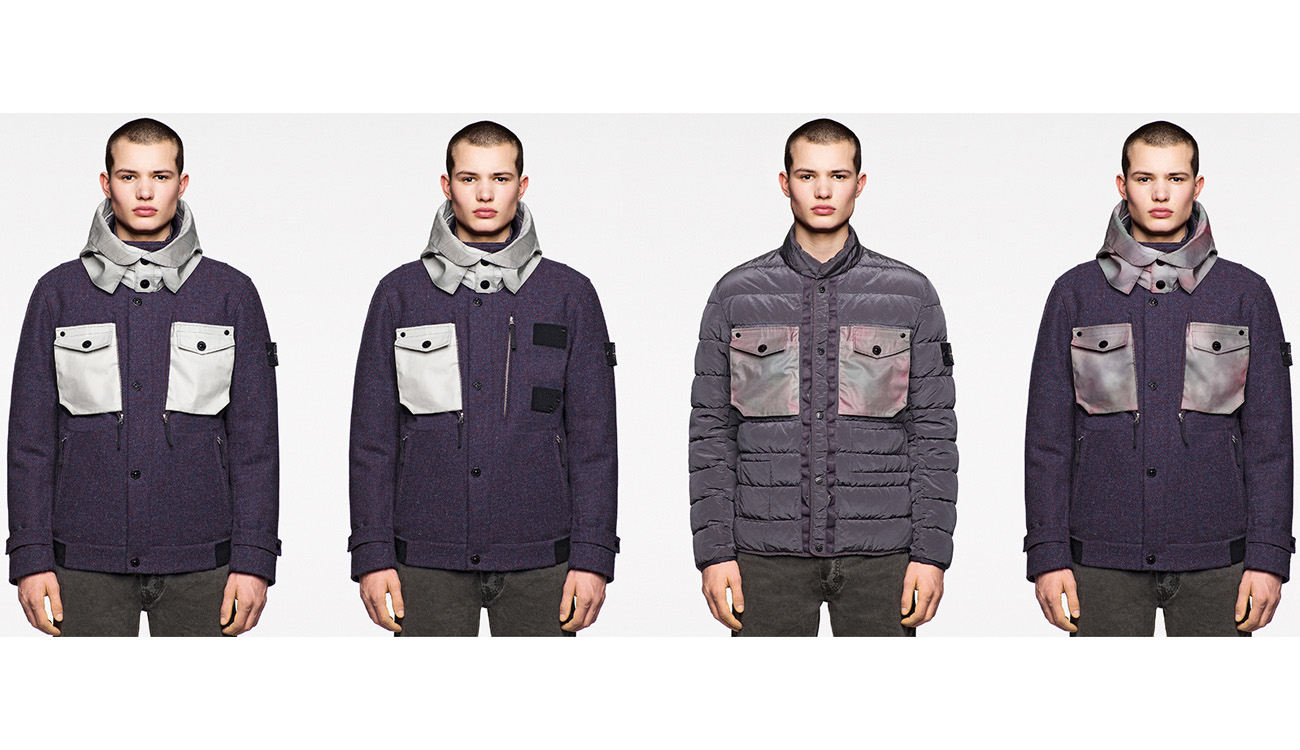 Four limited edition, casual jackets in Harris Tweed with Polymorphic Ice fabric.