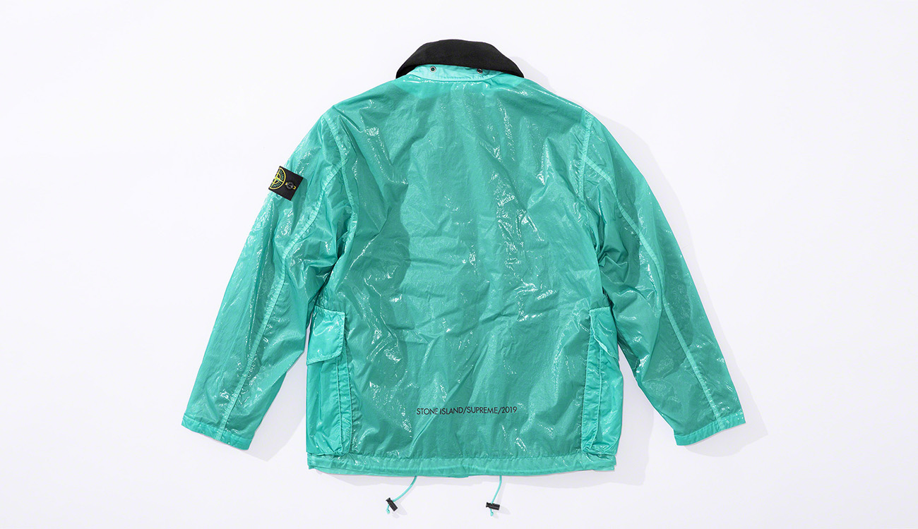 Back of aquamarine colored jacket in New Silk Light fabric.