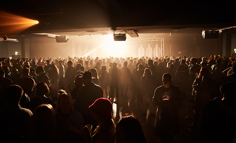 Club full of people.