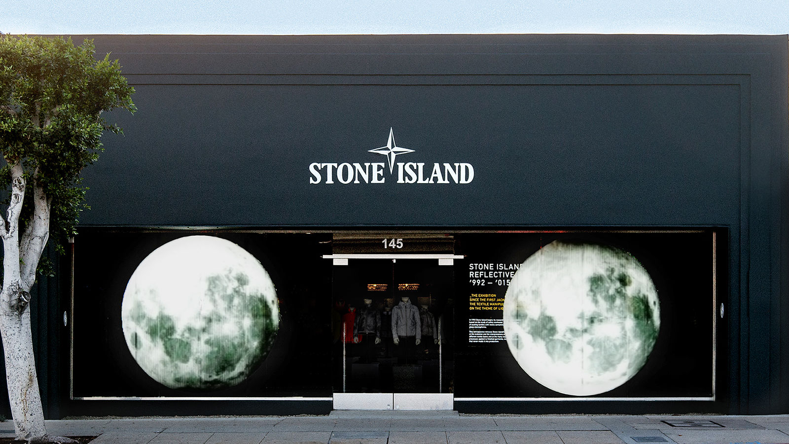 stone island opens los angeles store stone island corporate. Black Bedroom Furniture Sets. Home Design Ideas
