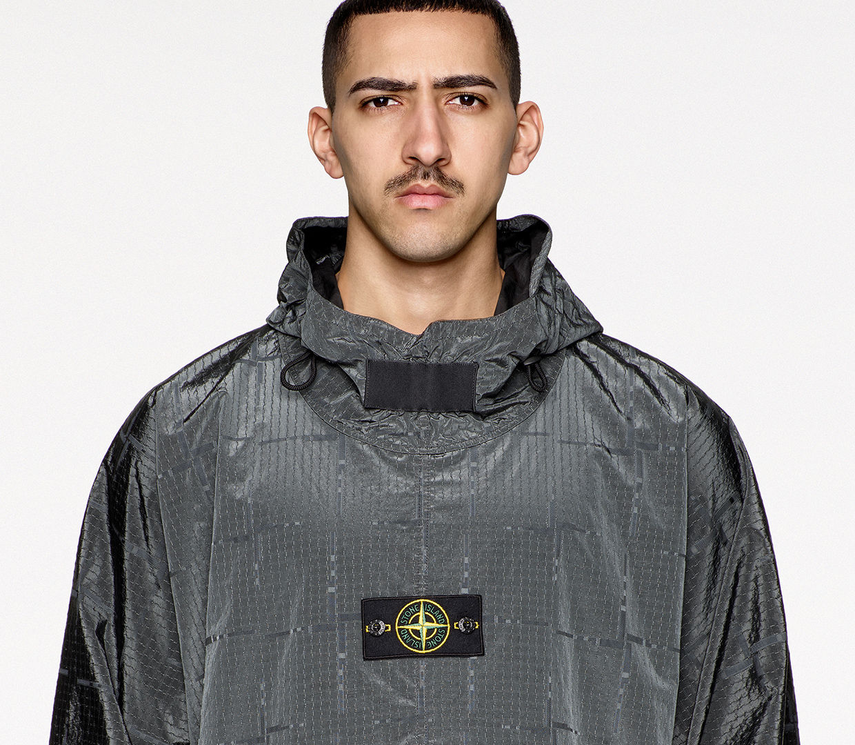 HP STONE ISLAND HOUSE CHECK NYLON METAL BLACK WATRO